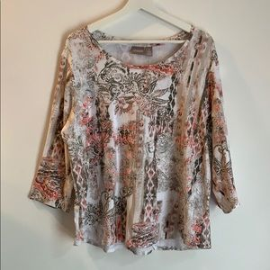 Chico's size 3 cotton stretch top